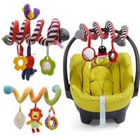 Soft infantil berço carrinho de cama espiral brinquedo para recém-nascidos assento de carro educacional chocalhos toalha brinquedos de bebê 0-12 meses qwz