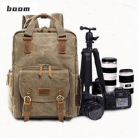 Outdoor Bags Premium Vintage Pography Backpack Waterproof Canvas Bag Camping Equipment Tactical