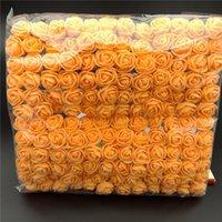 Decorative Flowers & Wreaths 144 Pcs  Pack Mini Foam Artificial Rose Flower Bouquet Wedding Decor Craft Supplies BOM666