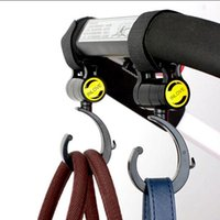 Stroller Parts & Accessories 2 PCS LOT Baby Hook Multifunction Black High Quality Plastic