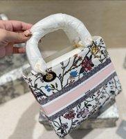Damenhandtasche 21 Designer Plaid Stickerei Taschen Mode Kollocation Diagonale Hohe Temperament Umhängetasche Geschenkbox Verpackung WF2102041