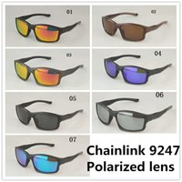Men And Women Cycling Designer Sun Glasses CHAINLINK 009247 TR90 Frame Driving Polarized Sunglasses Fishing Travel Sunglasses