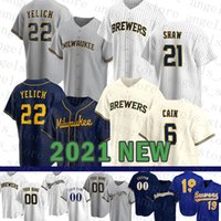 Milwaukee Mens Brewers Mulheres 22 Christian Yelich Costume 19 Robin Yount Jersey 6 Lorenzo Cain 24 Jesus Aguilar 12 Aaron Rodgers