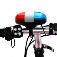 Arrivo Bicicletta Bicicletta Ciclismo Chiamata 4 Suoni 6 LED Police Auto Sirena Elettrica Horn Horn Bell Accessori per biciclette 2021 Outdoor
