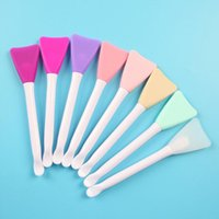 Makeup Brushes Double-Headed Silicone Soft Facial Mask Cosmetic Brush With Digging Spoon, Single Brush, Beauty And Skin Care Tool
