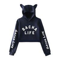 Men's Hoodies & Sweatshirts Game Gacha Life Crop Cat Ear Hoodie Women Girl Pullover Kawaii Harajuku Tracksuit Oversize Hight Quality Clothes