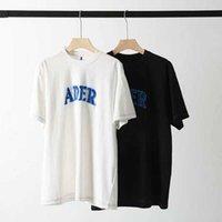 2021 ADer Hata T Gömlek Yıkama Denim Nakış Yama T Shirt Erkek Kadın Casual 1: 1 Yüksek Kaliteli Aer Hata Tops Tee X0602