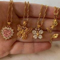 Ouro inoxidável adorável aço elegante inseto borboleta animal metal colar cadeia choker mulher homem jóias mariposa