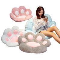 وسادة / وسادة الزخرفية أفخم غطاء مقعد كرسي وسادة الدب شبه المغلقة القط مخلب شكل لطيف لينة