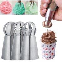 3pcs rostfritt stålkaka icing cream piping munstycken kaka dekorera konditorivaror munnen fondant kräm bakverk verktyg tillbehör w-01166
