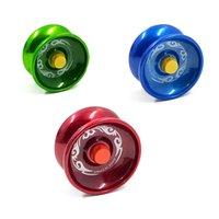 금속 fidget spinner 금속 요요 합금 알루미늄 디자인 고속 전문 요요 볼 베어링 문자열 트릭 마법 저글링 장난감 GGA4284