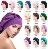 Kadınlar Uyku Kap Satin Gece Bonnet Kafa Kapak Bere Şapka Saç Güzellik Elastik Bakım DB617