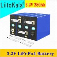Liitokala 3.2V 280AH LIFEPO4 DIY Batterie 12V 24V 48V Wiederaufladbare Zelle für elektrische Roller RV Solar Storage Syste