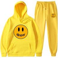 Hoodies Tişörtü Justin Bieber Drew House Bodyguard Takım Elbise Gülen Yüz Kapüşonlu Pantolon Fwrr