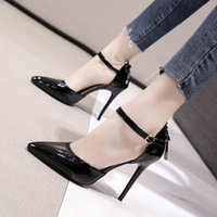 Dress Shoes Sexy Nude Color High Heels Fashion Thin Butterfly-Knot Patent Leather Middle Hollow Womens Elegant Party Pumps