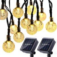 Solarbetriebene LED-String-Leuchten 30 Birnen wasserdichte Kristallkugel Weihnachtsstring Camping Beleuchtung Garten Holiday Party 8 Modi 314 S2