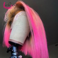 Spitze Perücken 13x5 Highlight Rosa Kurz Bob HD Frontal Human Hair Ombre 613 Blondine Prepped Full Color Burgund Front Woman 13x6