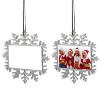 DIY Christmas Decoration Pendant Double Sided Blank Sublimation Pendants Heat Transfer Holiday Party Ornaments