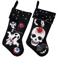 Farys Fournitures Halloween Passage Décor Arbre d'extérieur Ornement Ghost Skull Bas Candy Chaussettes Sacs Sacs Halloween Cadeaux Sac 4966