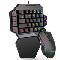 Keyboards One-Handed Mechanical Gaming Keyboard RGB Backlit Portable Mini Keypad Game Controller For PC PS4 Xbox Gamer