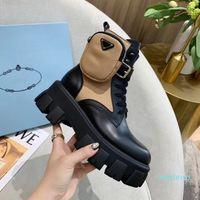 2021 Martin Stiefel für Frauen gebürstet Rois Stiefel Echte Leder Nylon mit abnehmbarer Beutel Black Lady Outdoor Booties Schuhe Australien mit Box