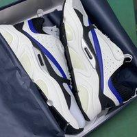 الرجال b22 حذاء رياضة عاكس منصة الأحذية قماش العجل مدربين أعلى جودة الضوء الأزرق النساء الدانتيل متابعة عارضة الأحذية مع مربع