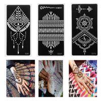 Temporary Tattoos 2021 Tattoo Stickers Stencils Mehndi Style Henna Template Sticker Hand Decal DIY Body Art Painting Tool