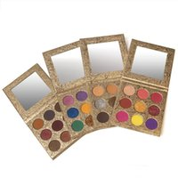 Wholesale Beauty Cosmetics Waterproof 9 Colors Eyeshadow Pallet Gold Carboard Custom Logo Private Label Makeup Palettes Matte and Shimmer Eye shadow Palette