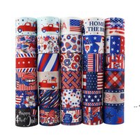American Independence Day Ribbon 4. Juli Geschenkpaket Ribbon USA Patriotisches DIY Haar-Zubehör 22mm / 10 Yards A Roll FWA4317