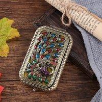 Retro Spiegel Schmetterling Muster Zerkalos Tragbare Vintage Tasche Zerkalo Doppelgesichter Kosmetikspiegel Make-up Werkzeug Kommode Geschenk HWD6644