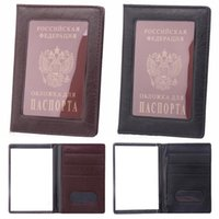 Card Holders Window Passport Holder Clear ID Case Transparent Russia Business Cover For Travel Bags