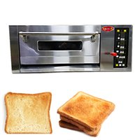 3.5KW Commercial single layer oven With Pizza Stone Electric Stainless Steel Roasted Cake Chicken Bread 220V