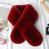 Koreanische Version von reinen Farbimitation Kaninchenfell Winter Damen Dicke Plüsch Warme Schal BIB Dual-Nutzung