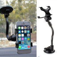 Windshield Car Phone Holder Suction Cup Mount Holders 360 Degree Rotation With Long Gooseneck for iPhone Samsung Android Smartphones