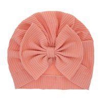Soft Cotton Baby Infant Hats Caps Cute Turban Bow Knot Beanies for Toddler Baby Girls candy