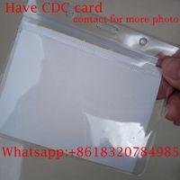 En stock, CDC Blank CardStock Files Dossiers, 4 * 3 pouces TRANSPARENT TRANSPARENT ÉTABLES DE PVC RÉAUTABLE, REMPLISSEZ LES INFORMATIONS MODIFIERE, POLITIQUE DE CARTES ou LANYARD