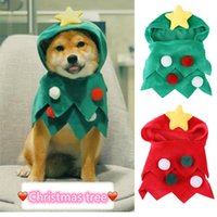 Dog Apparel Pet Clothing 2021 Halloween Christmas Jumpsuit Hooded Five-Star Pompom Costume Cute Cartoon Holiday Accessories