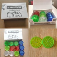 Round Tobao Cigarette Colorf 12pcs set Acrylic Plastic With 3layer 60mm Smoking Grinders Smoke Detectors Dry Herb Grinder Spice Mill jllMZY