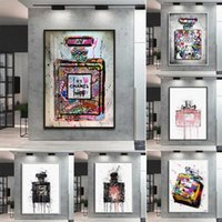 Paintings Graffiti Perfume Street Art Canvas Poster Prints Wall Picture Modern Fashion Women Bedroom Print Living Room Home Decoration