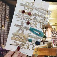 Crystal Pearl Hair Clip For Women Korean Hairpins Girl Geometric Barrettes Fashion Hairgrip Headwear Accessories