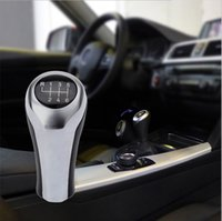 Gear Shift Knob For BMW 1 3 5 6 Series E46 E53 E60 E61 E63 E65 E81 E82 E83 E87 E90 E91 E92 X1 X3 X5 M silver Carbon