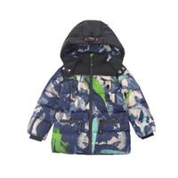 어린이 다운 코트 아이 겨울 outwear 옷 소년 의류 코튼 두꺼운 재킷 따뜻한 긴 후드 침대 B8413