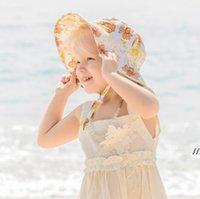 Baby Girls Рыбацкие шляпы весна Летние младенческие дети универсальные рыболовы шапки милые цветы печатающие шляпы новорожденного моды AHC6964