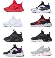 Top Quality 2021 Huarache Running Shoes 4.0 1.0 Hommes Femmes Chaussure Triple Blanc Noir Noir Red Gris Huaraches Huaraches Mens Baskets Sports de sport en plein air Jogging Jogging