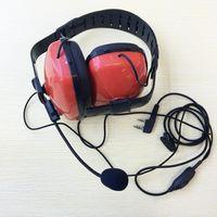 Walkie Talkie Honghuismart Rote Farbe Mode Rauschen Stornieren Großer Kopfhörer K Stecker 2pins Mic für, Linton, Baofeng, Puxing