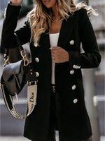 Mode neue Damenmäntel tragen langärmlig mit zweireihigem Kragen Oberbekleidung im Freien Graben Winter Schneemäntel Größe M-2XL