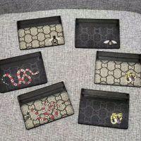 Män Luxurys Designers Kortinnehavare Klassisk Kvinnor Casual Kreditkort Hållare G Cowhide Läder Ultra Slim Plånbok Mens Kvinnor Plånböcker Storlek W10 * H7