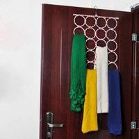 Gancho de cabides dobrável gancho suporte espaço salvador organizador closet para meias gravata lenço cachecol xaile sec88