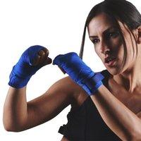 1Pair Boxing Bandage Algodão Comprimento de Algodão 2.5m para Karate Wushu Sanda Luta Treinamento Treinamento Pulso Luvas de Mão Envoltório Protetor
