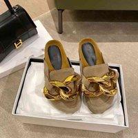 69% di sconto sul negozio online Early Spring 2021 Nuova catena J-catena Baou Mezza pantofole Pantofole da donna Pigre Pigre Pigre Muller Scarpe Piano Tornagliato Testa rotonda Casual
